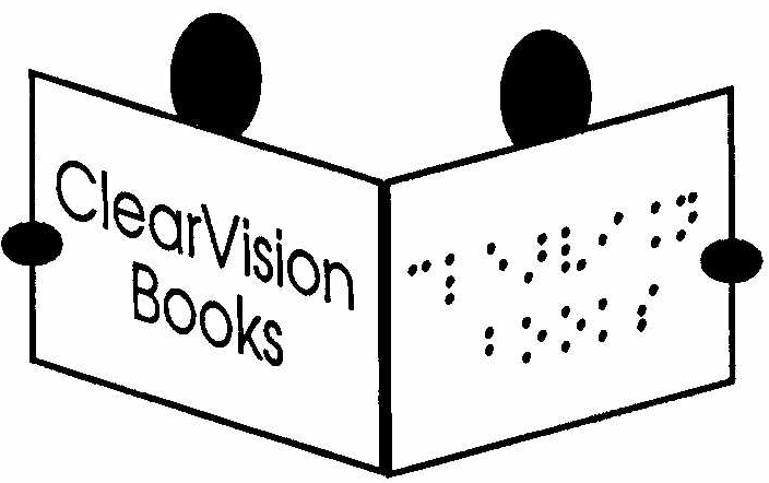 Braille and normal text logo for Clearvision