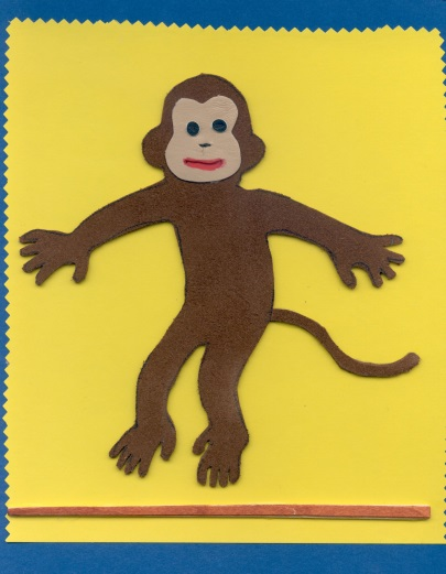 Image of a monkey from a tactile book